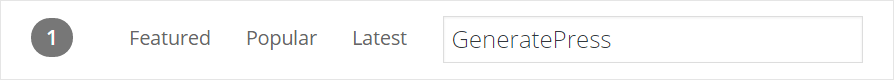 Search for GeneratePress