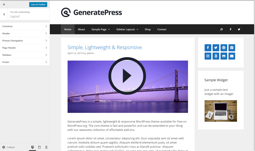 GeneratePress Video