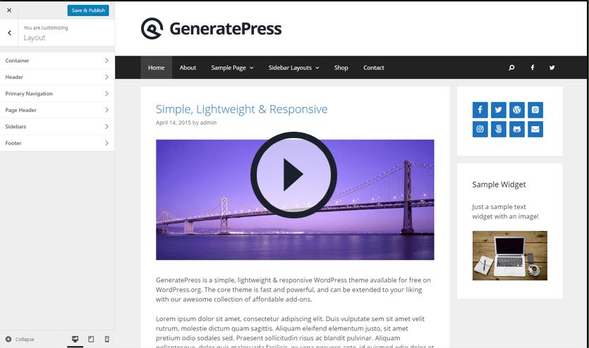 GeneratePress Video