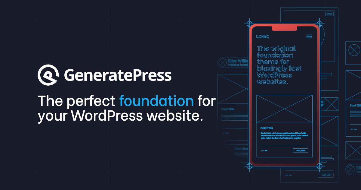 GeneratePress - รีวิว GeneratePress ธีมเวิร์ดเพรส ที่เบามาก คะแนนดี และเป็นมิตรกับนักพัฒนา